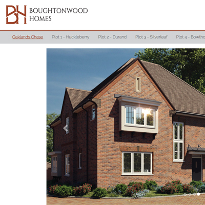 Property development brochure website design