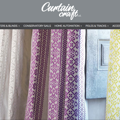 Curtain blind and shutter website design