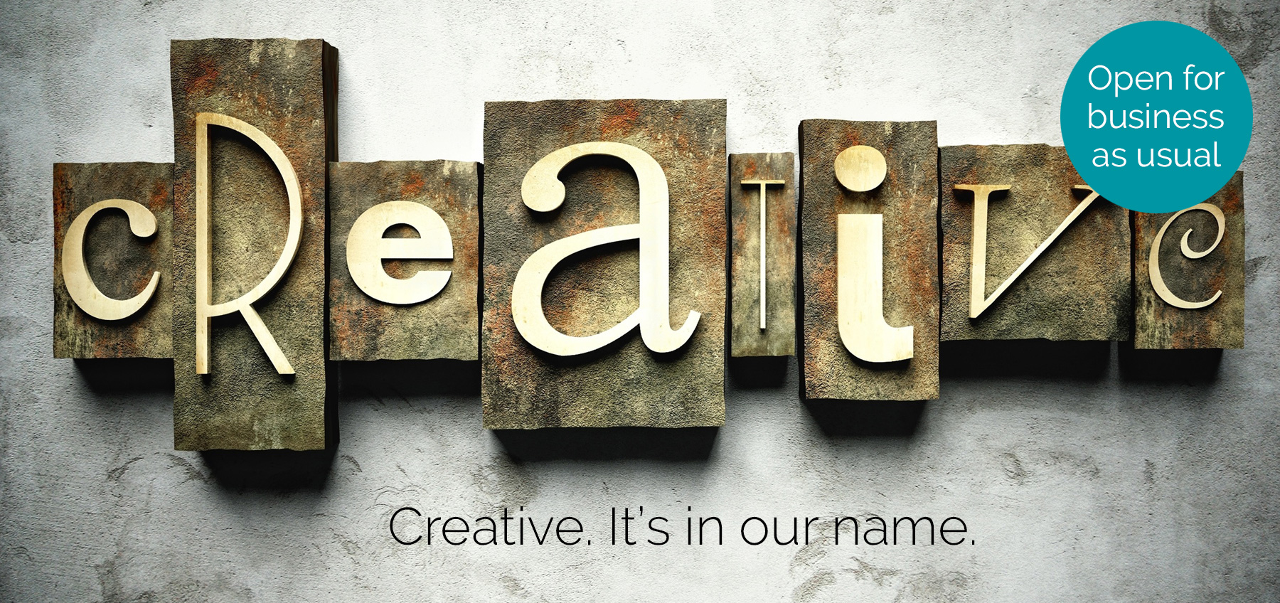 Creative. It's in our name. Creative graphic design and website development, Haywards Heath, West Sussex