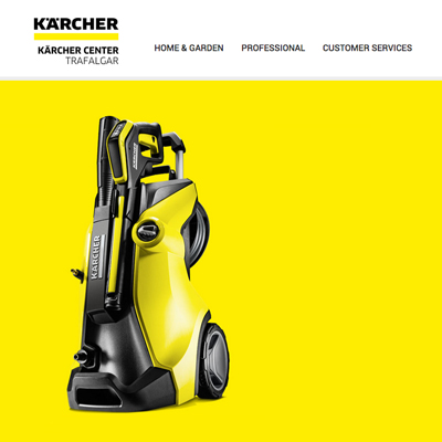 Kärcher ecommerce website design and build
